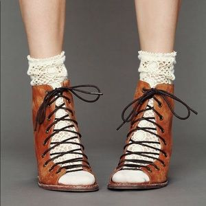 Jeffrey Campbell X Free People lace up heels